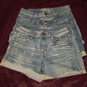 AMERICAN EAGLE Bundle of 3 High Rise Shorts
